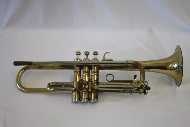 Gold Lacquered Trumpet by Rudy Much,