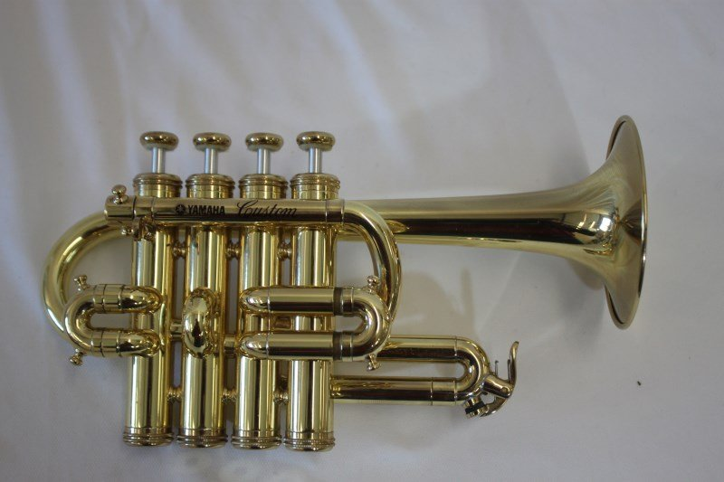 Gold Lacquered Piccolo Trumpet by Yamaha,