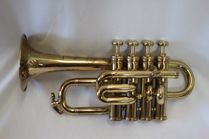 Gold Lacquered Piccolo Trumpet by Selmer,