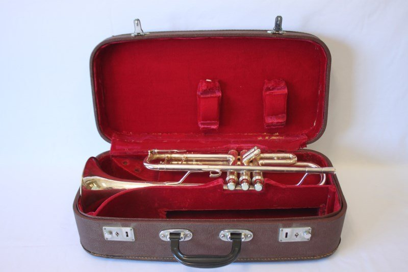 Silver Plate Trumpet by Lark,