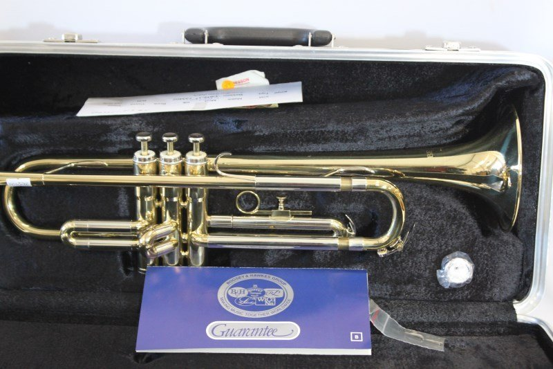 Gold Lacquered Besson London 600 Series Trumpet,