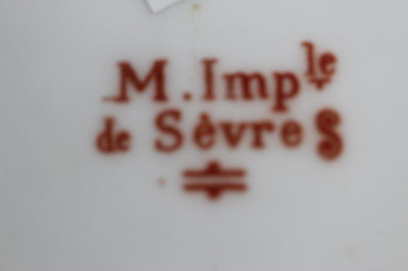 M. Imp de Sevres Demi Tasse and Saucer, - 6