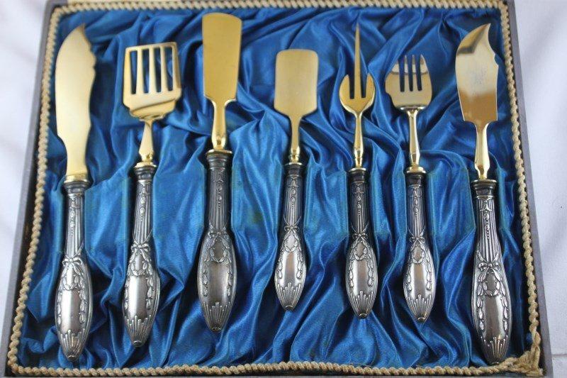 Set of Russian Silver Serving Utensils,