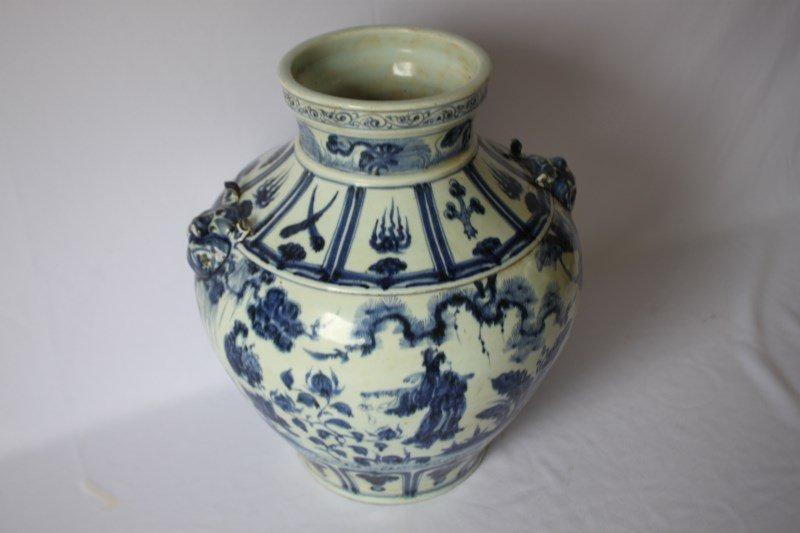 Good Chinese Blue and White Baluster  Vase,