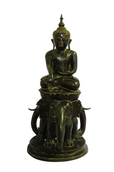 Rare 18th/19th Century  Burmese Bronze Buddha