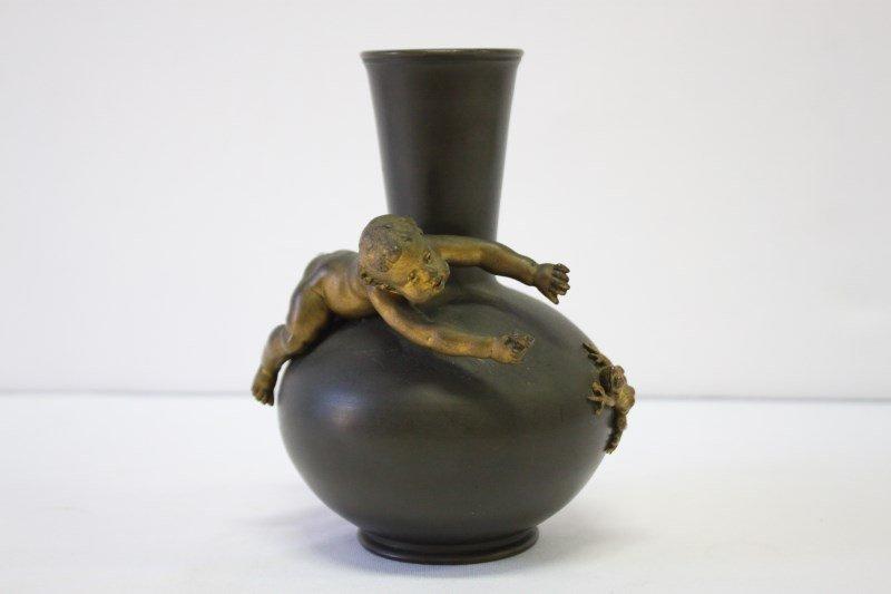 Wonderful French Art Nouveau Bronze Vase,