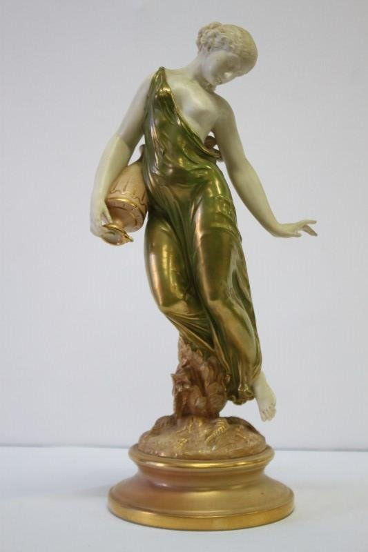 19th Century Royal Worcester Water Carrier Figure,