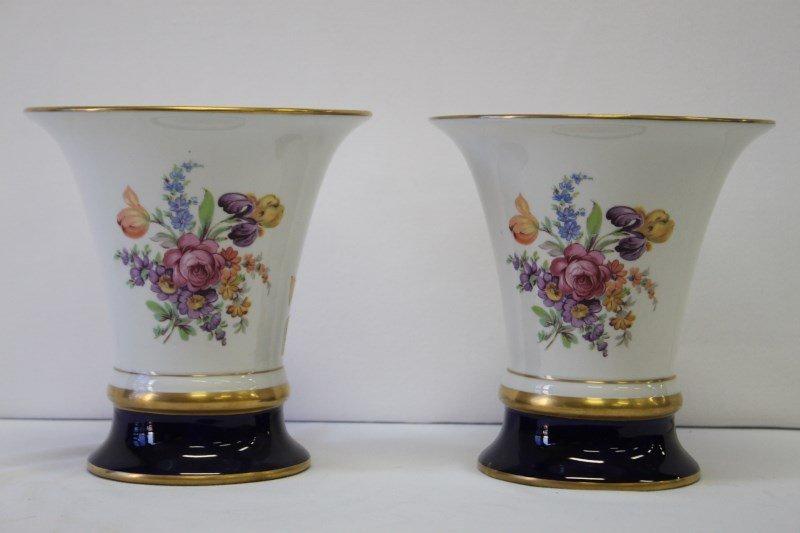 Pair of Royal Dux Porcelain Vases,