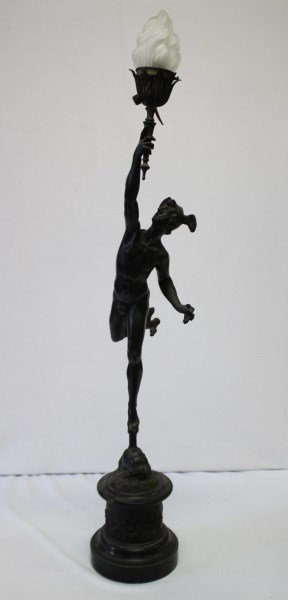 Early 20th Century Bronze Figural Lamp,