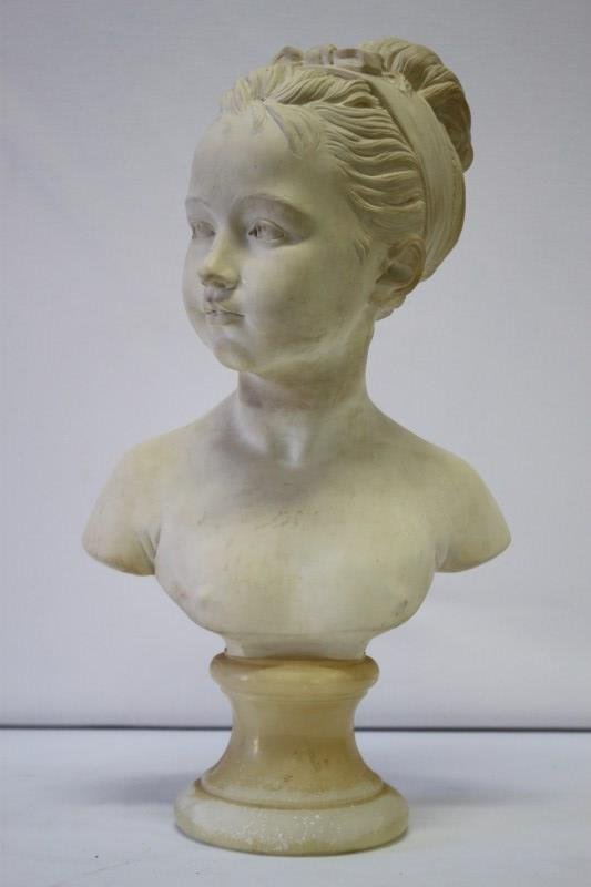 Early 20th Century Alabaster Powder Bust,