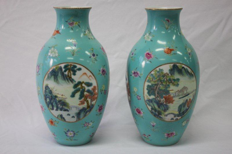 Wonderful Pair of Chinese Porcelain Vases,