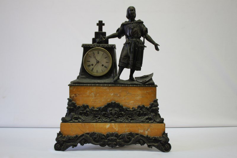 Good 19th Century French Bronze and Marble Figural