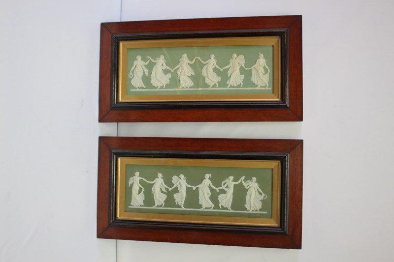 Beautiful Pair of 19th C Wedgwood Jasperware