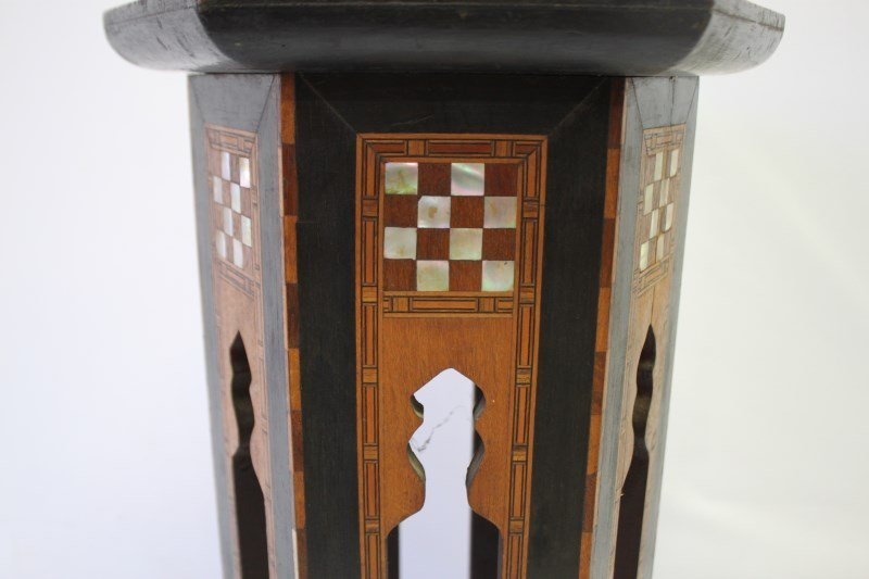 Beautiful Moroccan Inlaid Occasional Table, - 3