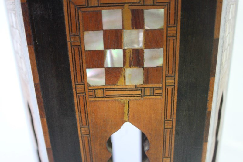 Beautiful Moroccan Inlaid Occasional Table, - 4