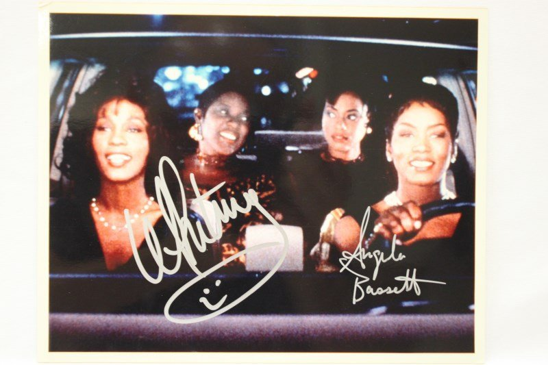 Signed Photo, Whitney Houston and Angela Bassett,