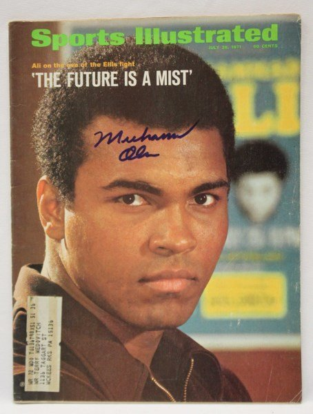 Signed Sports Illustrated, Muhammad Ali,