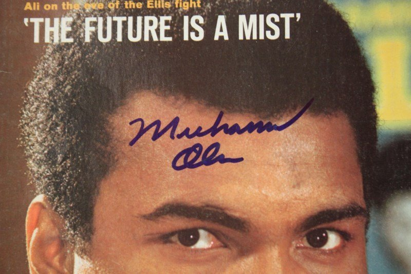 Signed Sports Illustrated, Muhammad Ali, - 2