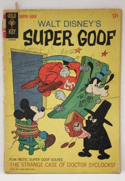 """Signed 1965 Comic, Walt Disney, """"Super Goof"""","""