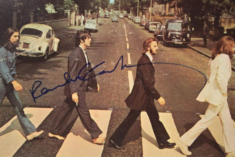 Signed LP, Paul McCartney, The Beatles,