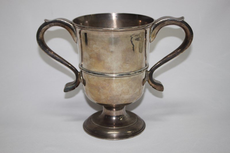 Handsome George III Sterling Silver Twin Handled