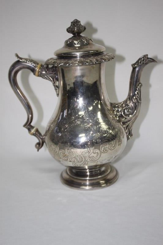 Early Victorian Scottish Silver Teapot,