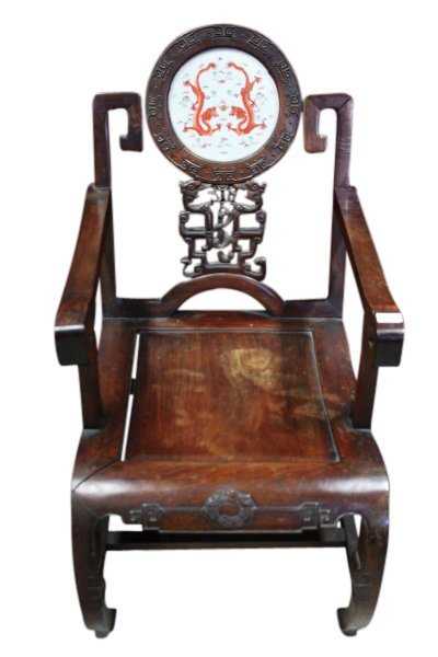 Important Pair of Chinese Late Qing Dynasty Armchairs, - 2