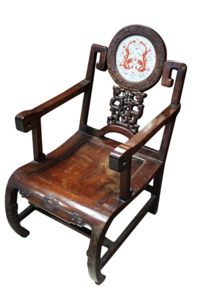 Important Pair of Chinese Late Qing Dynasty Armchairs, - 3