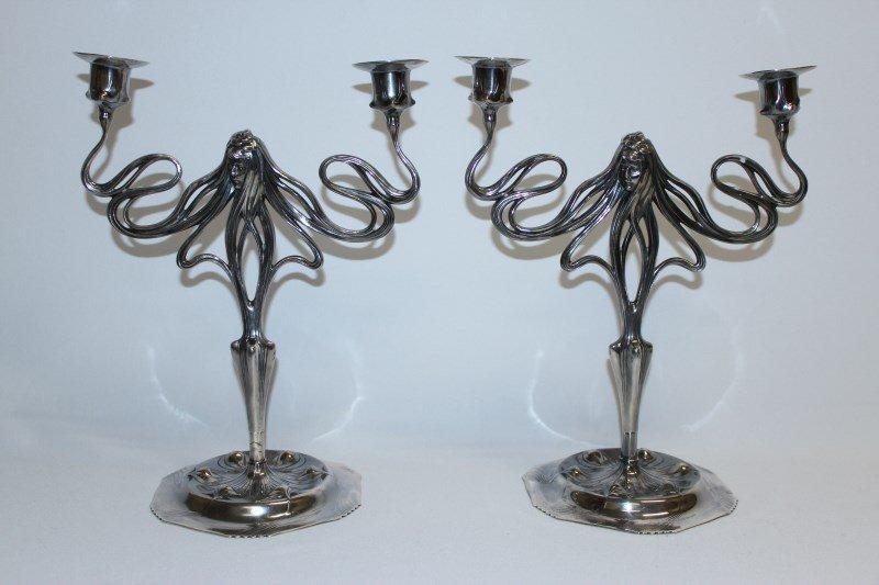 Good Pair of Orivit Art Nouveau German Two