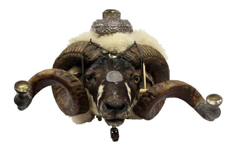 Early Twentieth Century Ram's Head Snuff Mull,