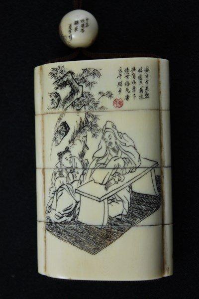 Japanese Ivory Shishi-Mai, Karakuri-Netsuke, - 4