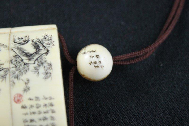 Japanese Ivory Shishi-Mai, Karakuri-Netsuke, - 7