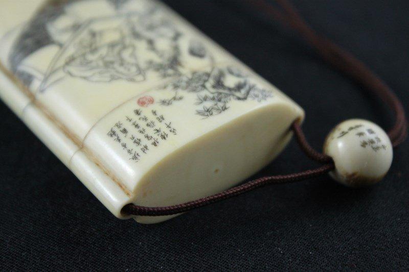 Japanese Ivory Shishi-Mai, Karakuri-Netsuke, - 9