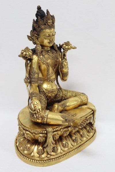 Fine and Rare Chinese Gilt Bronze Buddha,