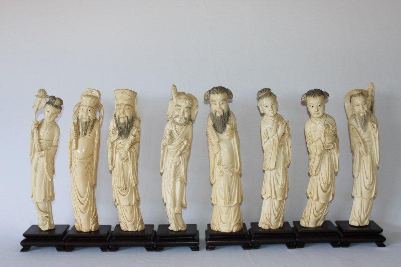 Wonderful Set of Chinese Ivory Immortals, c.1920