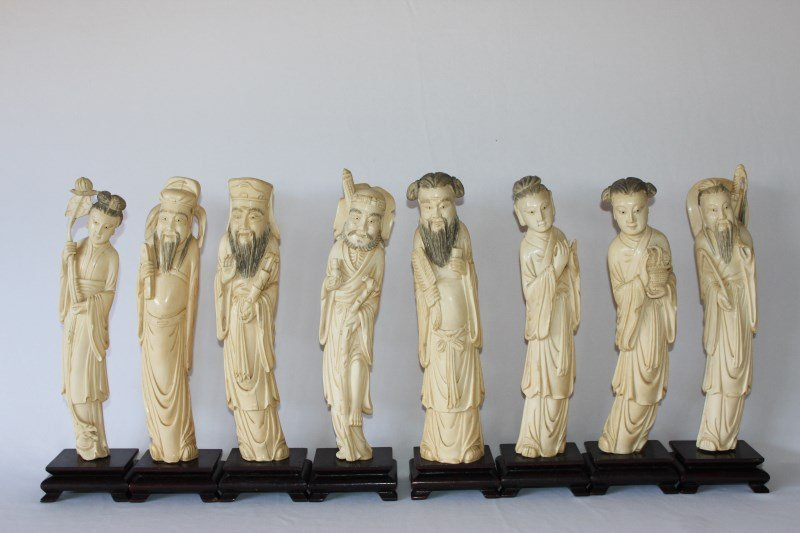 Wonderful Set of Chinese Ivory Immortals, c.1920
