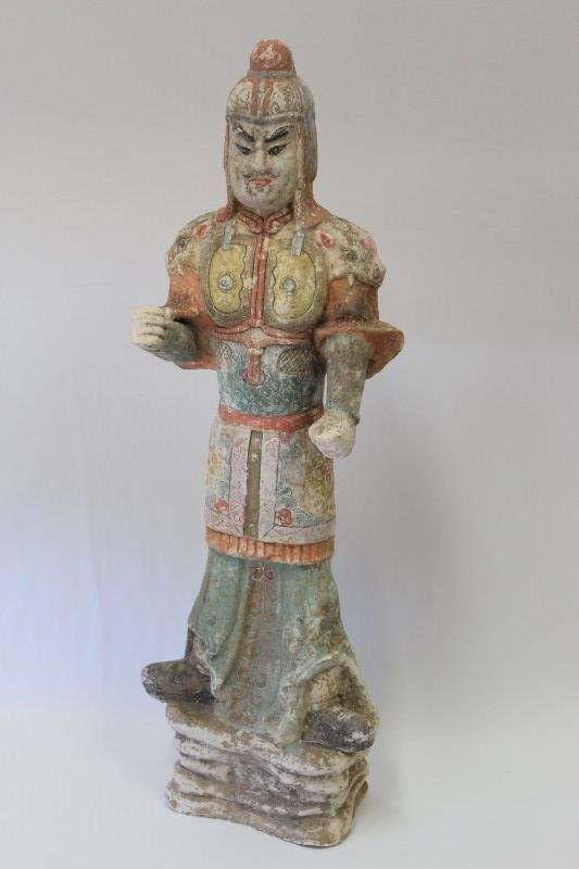 Chinese Pottery Figure of a Soldier,