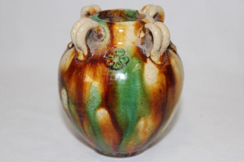 Chinese Sancai Glaze Vase,