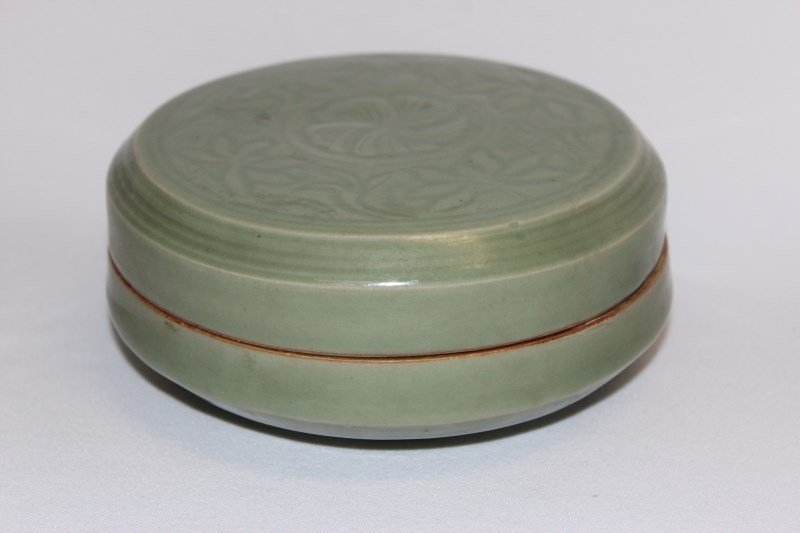 Chinese Celadon Box and Cover,
