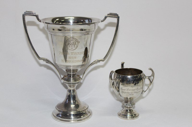 Two Sterling Silver Trophy Cups,