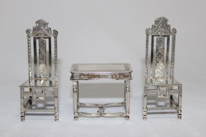 Charming Three Piece Miniature Furniture Suite,