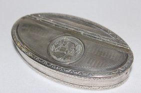 Nineteenth Century French Silver Snuff Box,