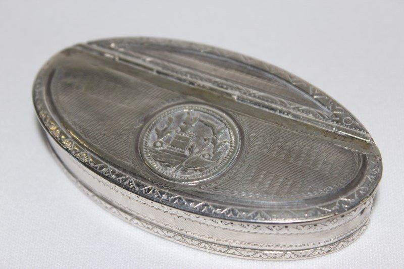 Nineteenth Century French Silver Snuff Box,
