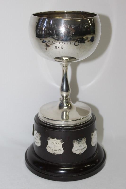 Sterling Silver Golf Trophy, St. Leonards NSW,