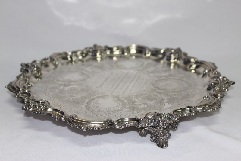 Magnificent Victorian Silver Salver,