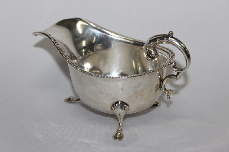 English Sterling Silver Sauce Boat,
