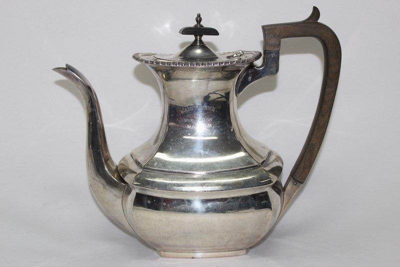 English Sterling Silver Tea Pot,