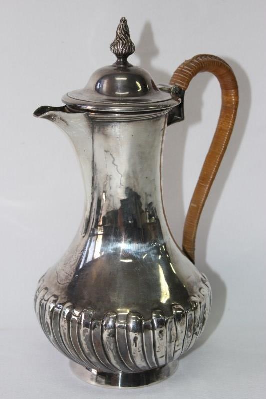 Georgian Silver Hot Water Jug,