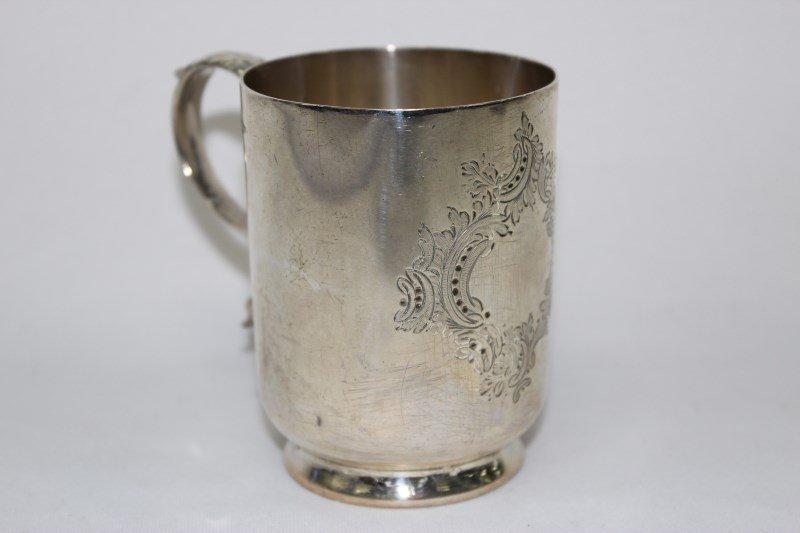 English Sterling Silver Christening Mug,