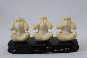 Three Japanese Meiji Period 'wise Monkeys',